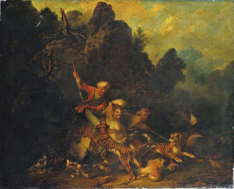 Sir Peter Francis Bourgeois - Tiger Hunt (c.1780)