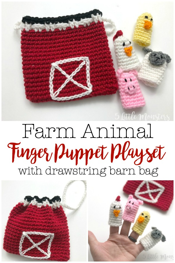 Farm Animals Crochet Patterns Cow Chicken Pig Horse Mouse Lamb ... | 900x600