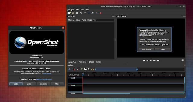 OpenShot video editor 2.6.0