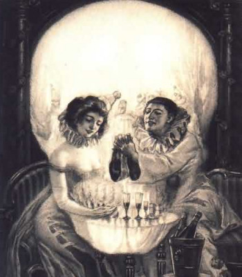 scary optical illusions skull illusion trick freaky eye cool very weird painting really tow fact drinking lovers normal paint looks