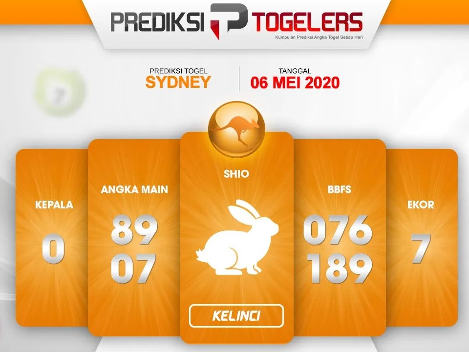 Prediksi Togel Sydney 06 Mei 2020 - Prediksi Togellers Sydney