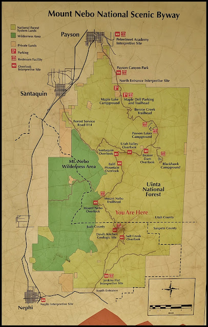 Map of the Trails in the Mount Nebo Wilderness Area