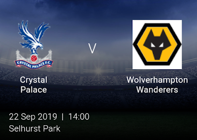 LIVE MATCH: Crystal Palace V Wolves Premier League 22/09/2019