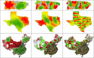 قياس  التنظيم المكاني للظواهر الجغرافية باستخدام تقنيات ( Spatial Autocorrelation) في GIS