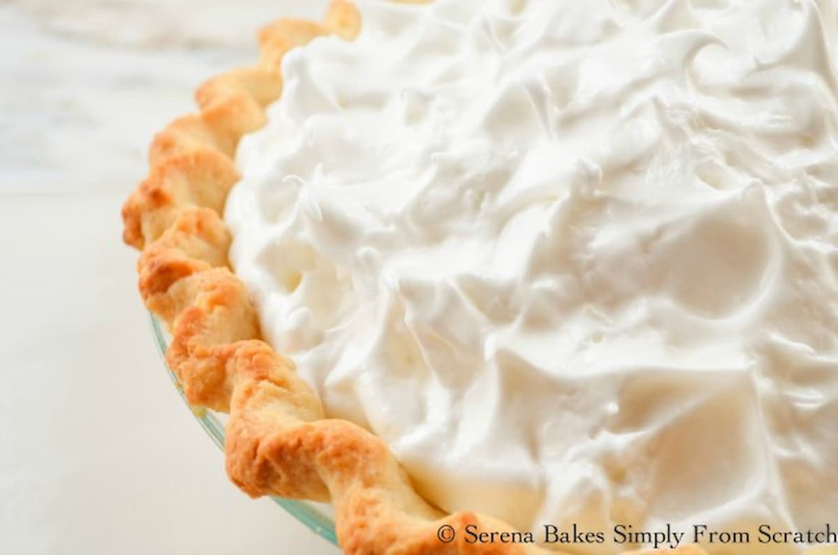 Lemon Meringue Pie topped with Weep Free Meringue.
