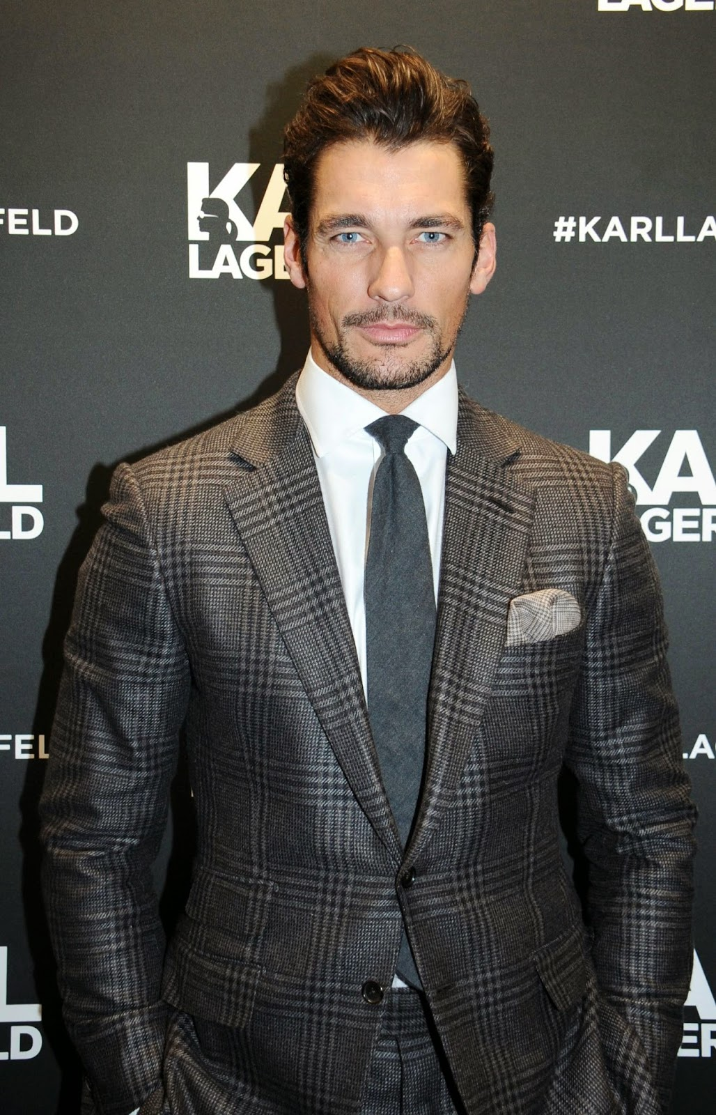 David Gandy Attends The Opening Of Karl Lagerfeld S
