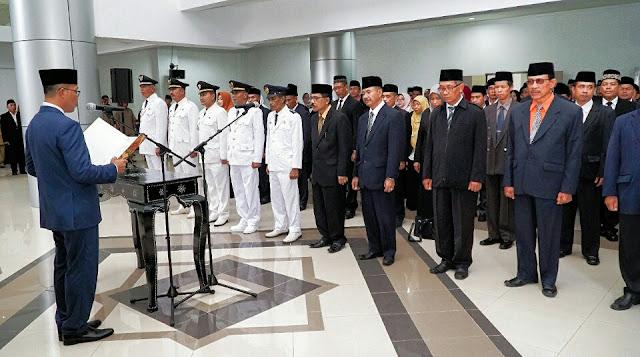 Sah, 110 Pejabat Eselon Tiga dan Empat Lombok Timur Dilantik