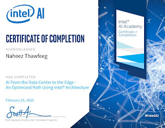 Intel® course certificate (Validated on Accredible®)