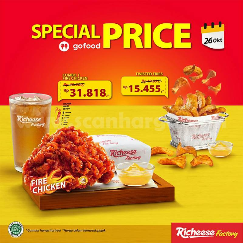 Promo RICHEESE FACTORY Special Price Paket New Hemat di Gofood 26 oktober 2020