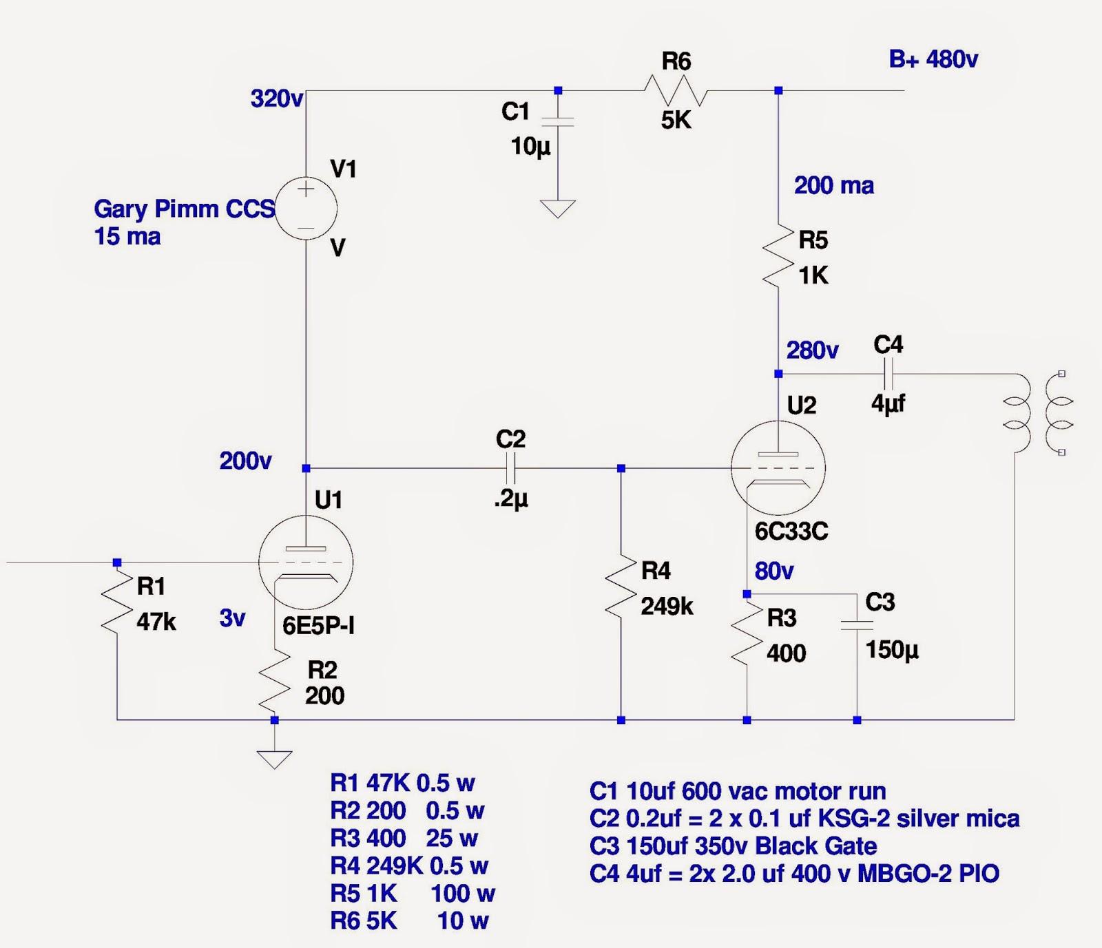 Audio ratbag: Cat Vomit Special - a 6E5P / 6C33C parafeed amp