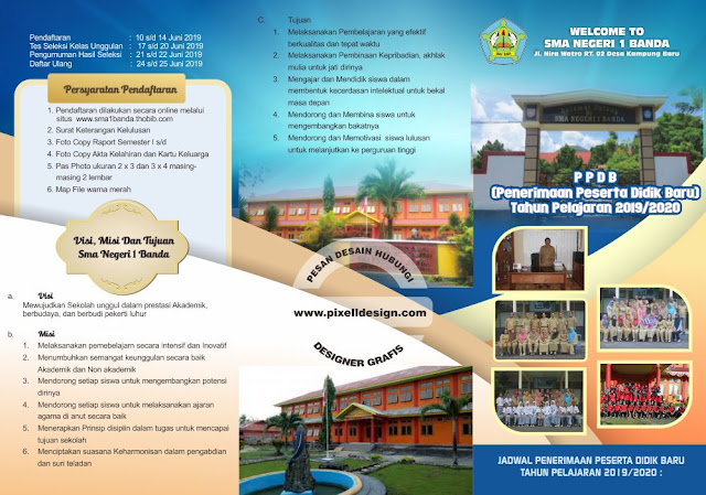 Iklan Brosur Pendidikan Pendaftaran Sekolah SMA
