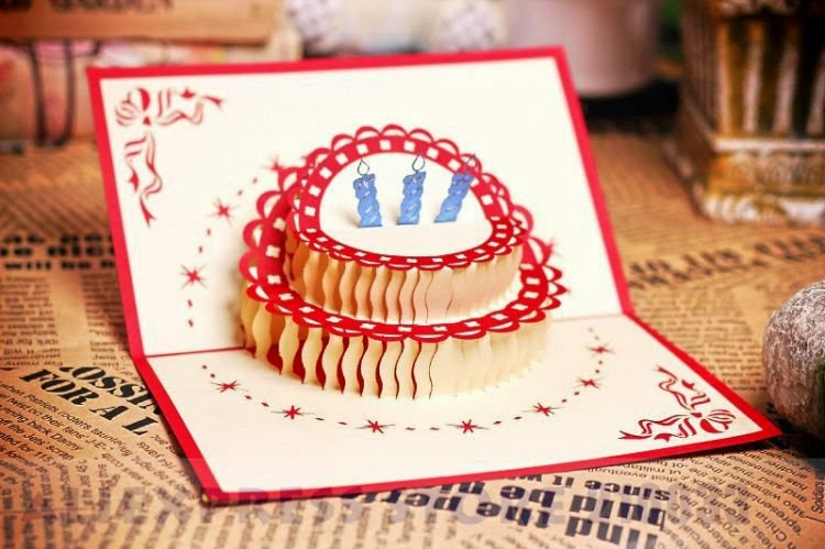 Easy DIY Origami Cupcake Birthday Card | 499x750