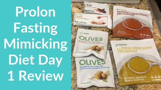 Prolon Fasting Mimicking Diet Day 1 Review