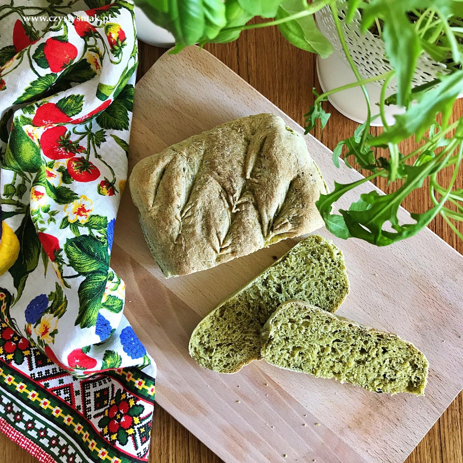 Pszenny chlebek z rukoli