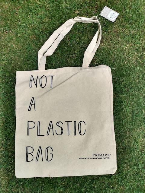 Primark reuseable organic cotton shopping bags