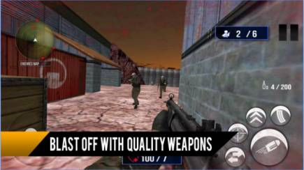 Game FPS Offline Android: Commando Survival Wars 3D Mod Apk