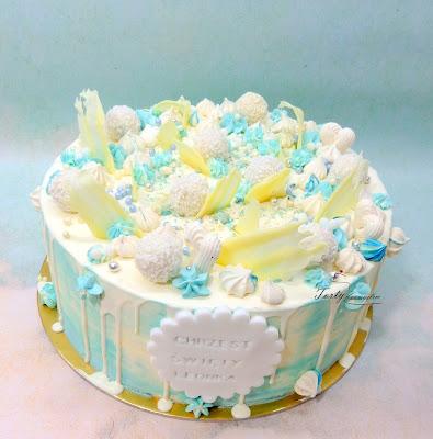 drip cake na chrzest