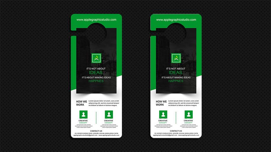 Business Door Hanger Design - Photoshop Advanced Tutorial - Apple
