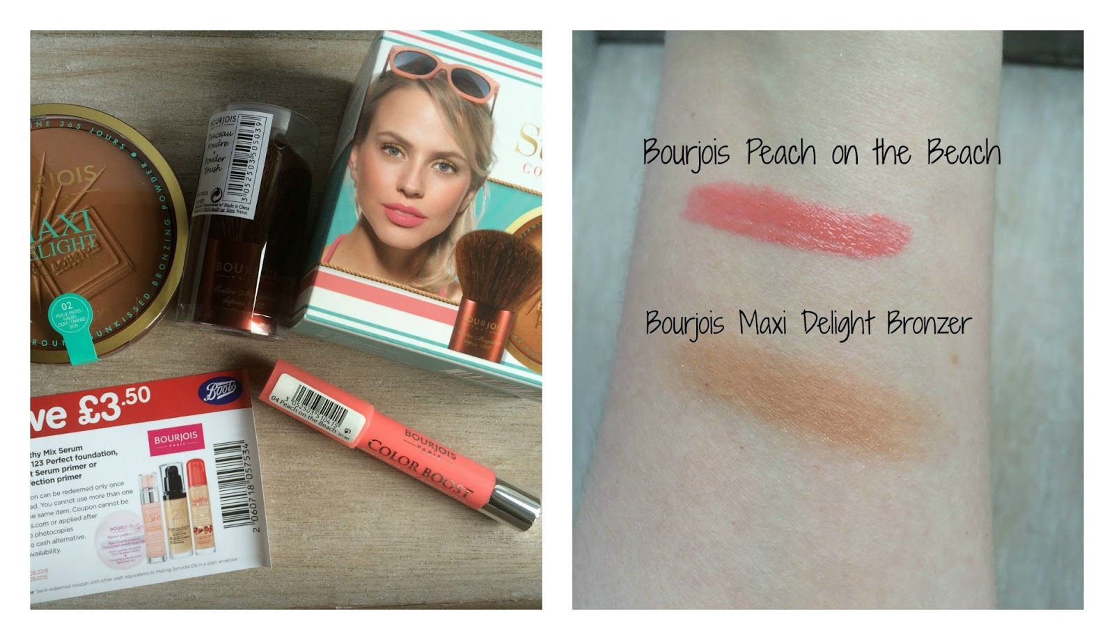 bourjois free gift june 2015 peach on the bech maxi delight bronzer