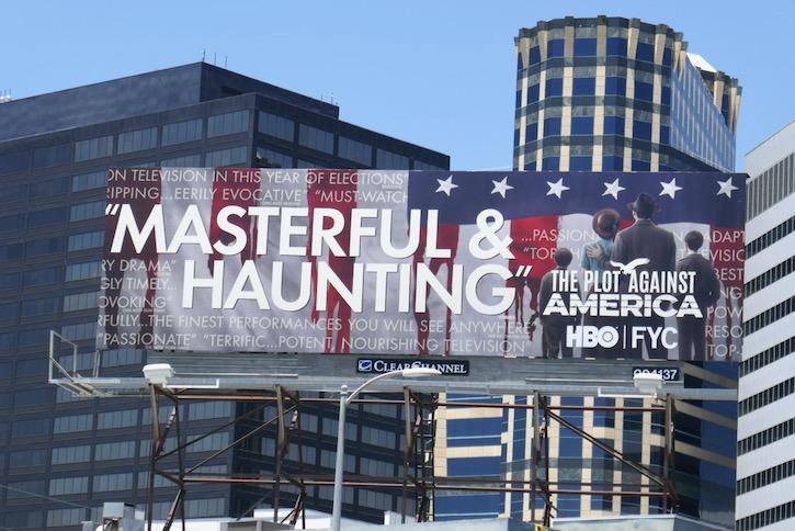 Plot Against America 2020 Emmy FYC billboard