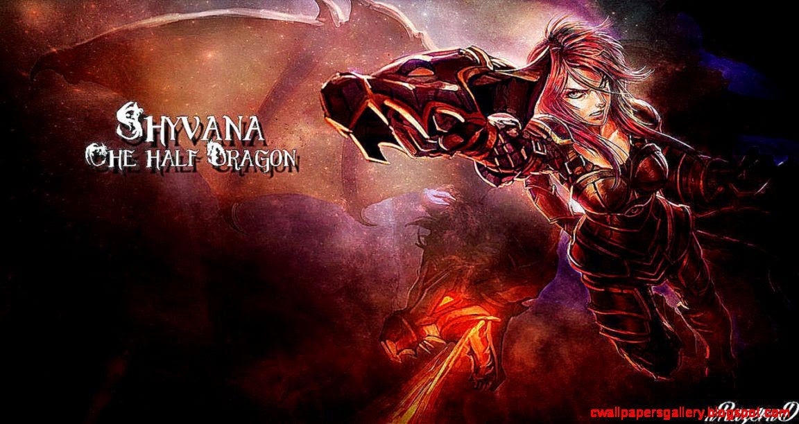 Fantasy Iron Scale Shyvana League Of Legends Wallpaper Wallpapers