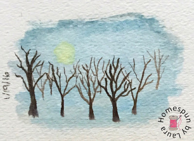 homespun by laura paint my vacation sketch shakespeare garden central park new york city nyc watercolor grove of trees