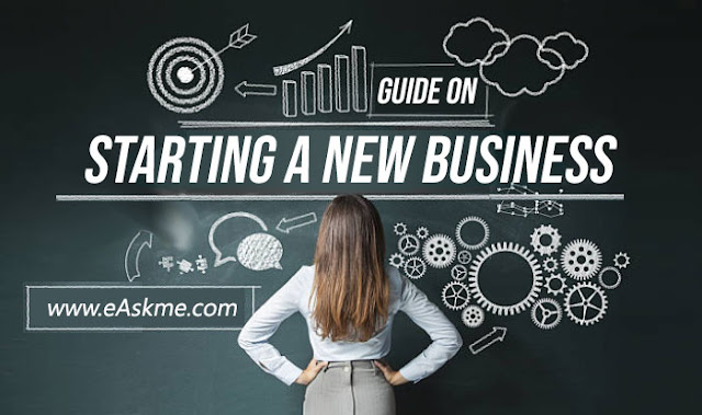 The Complete, 12-Steps Guide on Starting a New Business: eAskme
