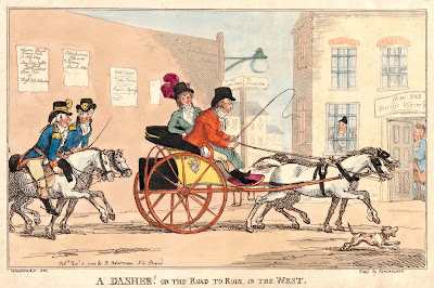 A Dasher! Or the Road to Ruin in the West (5/11/1799)  by T Rowlandson after GM Woodward  published by R Ackermann