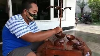 Cara Membuat Bunga Cantik Dari Batok Kelapa Yang Mudah Dibuat