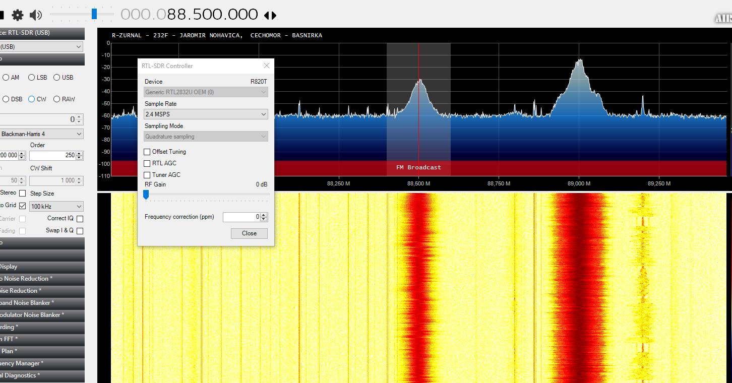 JFíla: RTL SDR pod Windows 10