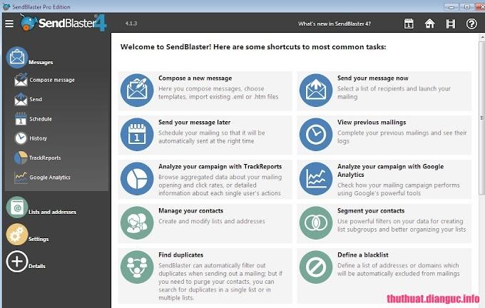 Download SendBlaster Pro Edition 4.3.3 Full Cr@ck