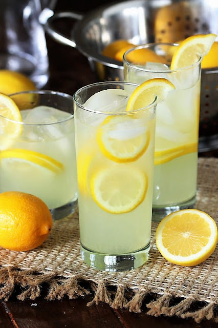Glass of Homemade Lemonade Image
