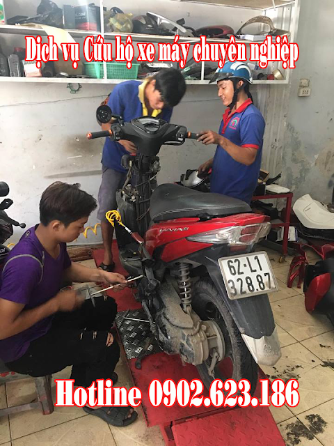 Cứu hộ sửa xe máy Yamaha Luvias tận nơi tại TpHCM
