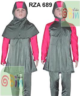 baju renang muslimah anak jilbab panjang
