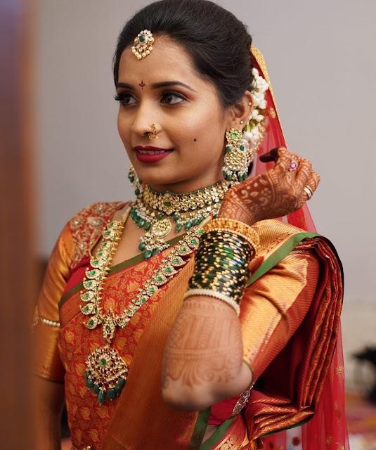 Bride in Kundan Mango Set Choker