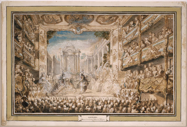 Lully's Armide at the Palais-Royal Opera House in 1761, watercolor by Gabriel de Saint-Aubin