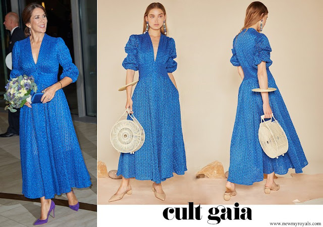 Crown Princess Mary wore a willow cobalt dress by Cult Gaia