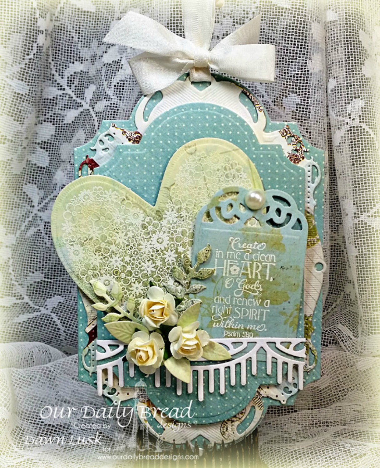 Stamps - Our Daily Bread Designs Clean Heart, ODBD Custom Ornate Hearts Die, ODBD Custom Beautiful Borders Dies, ODBD Custom Recipe Card and Tags Dies