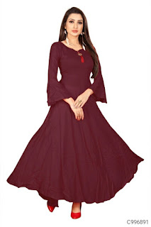 Women's Cotton Rayon Bell Sleeve Dresses
