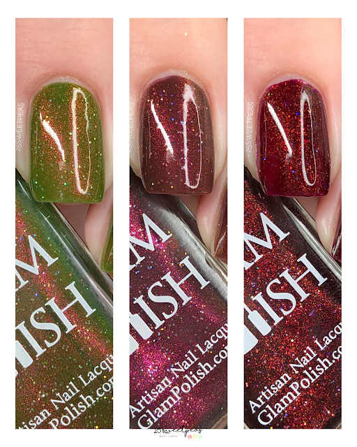Glam Polish Firefly Trio Swatches