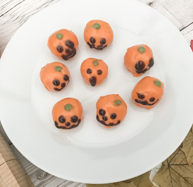 Plated pumpkin bites