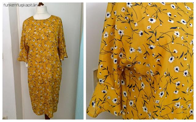 Kleid aus Viskose mit Trompetenärmeln nähen