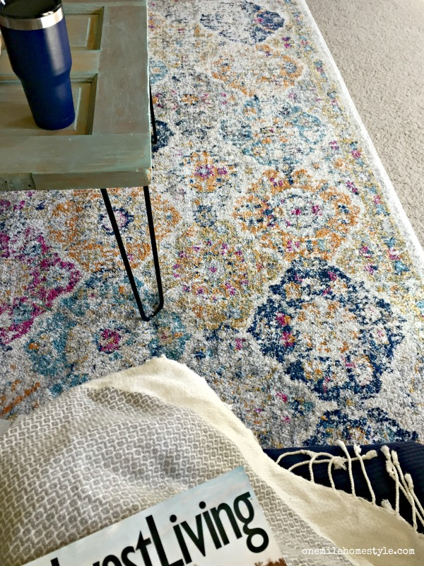 Vintage look area rug, perfect for that colorful farmhouse look, for under $350!