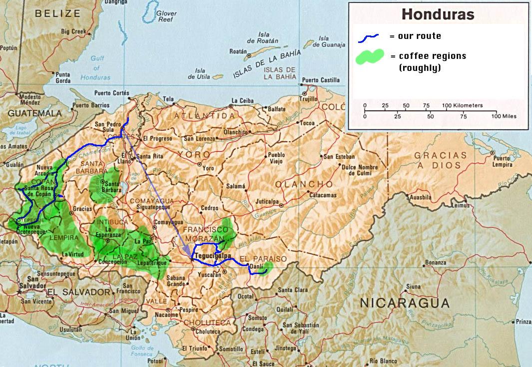 Honduras | Mapas Geográficos de Honduras