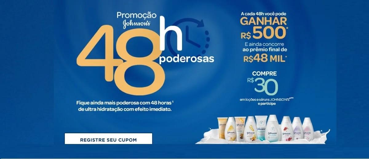 Promoção 48 Horas Poderosas Johnson's 2020 Cadastrar - 500 Reais na Hora e 48 Mil