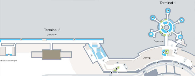 mapa terminales aeropuerto Abu Dhabi