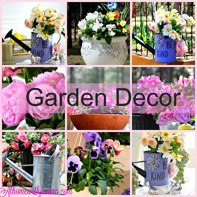 paint, stencils, recycle, watering, can, metal, galvanized, decor, homemaking, crafter