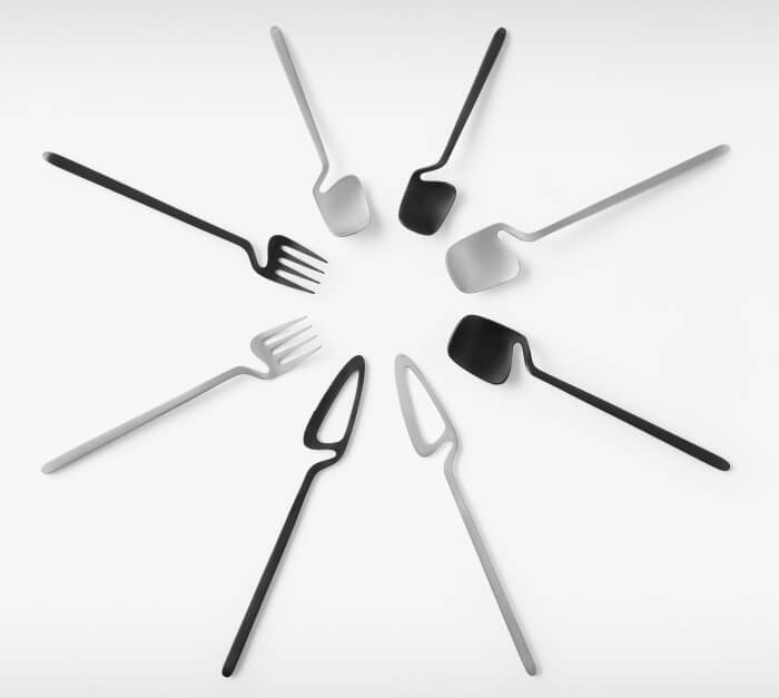 Skeleton Cutlery collection by Nendo