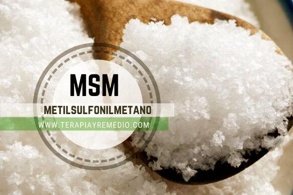 MSM es la abreviatura de metilsulfonilmetano, compuesto de azufre orgánico