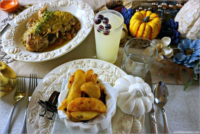 Limonada durante en nuestra Cena de Acción de Gracias en Boston